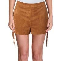 Vintage Savanna Womens Shorts Western Lace Up