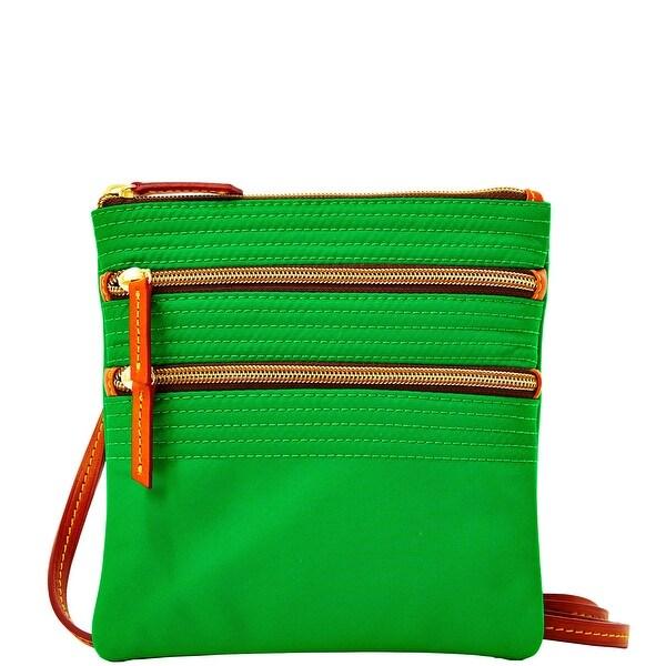 Dooney & Bourke Nylon Triple Zip (Introduced by Dooney & Bourke at $88 in Feb 2014) - Green
