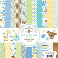 Doodlebug  Snips and Snails Paper Pad 6 in. x 6 in.-24 Double-Sided