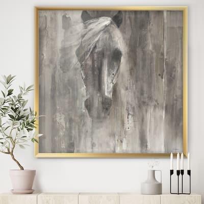 Designart 'Farmhouse Horse' Modern Farmhouse Framed Art Print