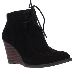 Lucky Brand Ysabel Wedge Ankle Booties - Black