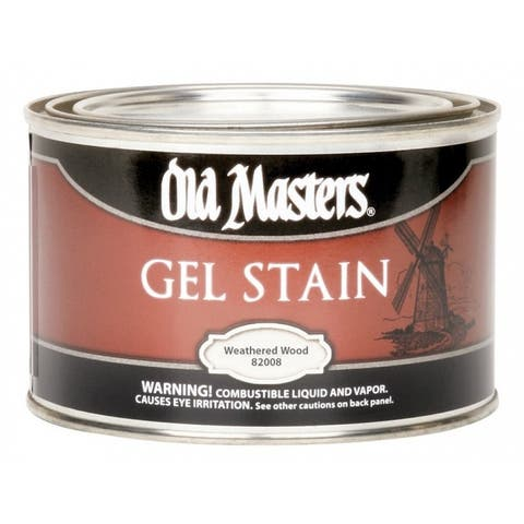 Old Masters 82008 Semi-Transparent Gel Stain, Oil-Based, Weathered Wood, 11 pint