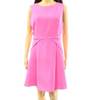 adelyn rae NEW Pink Women's Size Large L Strappy Pleated Sheath Dress