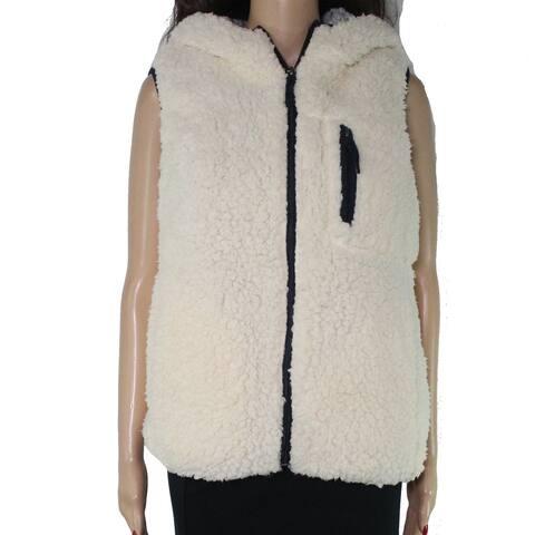 Thread & Supply Womens Sweater White Ivory Size Large L Vest Sleeveless