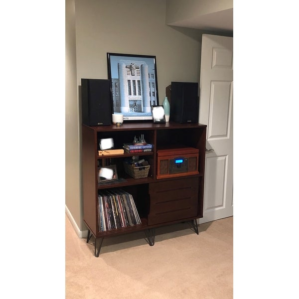 Shop Carson Carrington Clarence Media Bookshelf Console