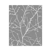 Graham and Brown 33-272 56 Square Foot - Innocence Charcoal and Silver - Non-Pasted Non-Woven Wallpaper - n/a - N/A