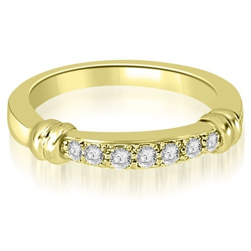 0.18 cttw. 14K Yellow Gold Round Cut Diamond Wedding Band