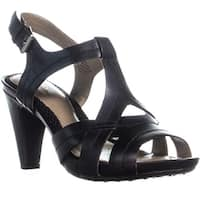 Easy Spirit Ketzia Peep Toe Strappy Sandals, Black