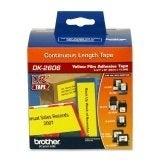 Brother DK2606M Brother DK-2606 Continuous Length Film Label Roll (Black/Yellow)