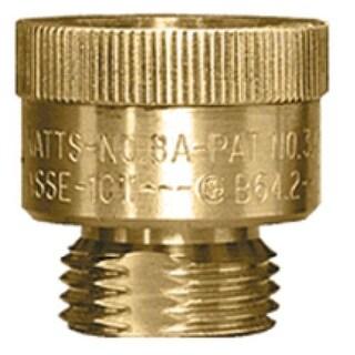 "Watts 8A BACK FL PREV Hose Connection Vacuum Breaker, Brass, 3/4"""