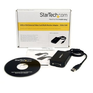 Startech Usb To Vga External Video Card Multi Monitor Adapter - 1920X1200 - Usb To Vga External Graphics Card