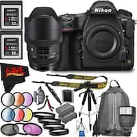 Nikon D850 DSLR Camera (Body Only) 1585 International Model + Sigma 12-24mm f/4 DG HSM Art Lens for Nikon F Bundle