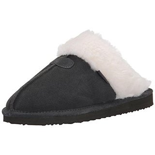 Northside Womens Caroline Sued Shearling Lined Mule Slippers