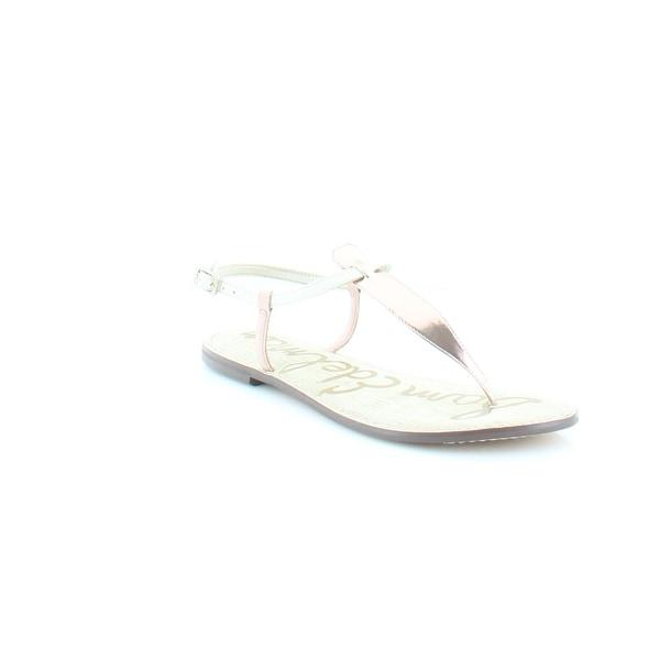 Sam Edelman Gigi Women's Sandals & Flip Flops Ivory Rose Gold - 9