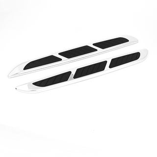 "Unique Bargains 2pcs Car Vehicle Exterior Side Vent Air Flow Fender Sticker Decor 14.2"" Length"