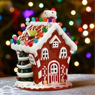 Link to Ceramic Christmas House Pre-Lit Tabletop Christmas Village Decoration Similar Items in Christmas Decorations