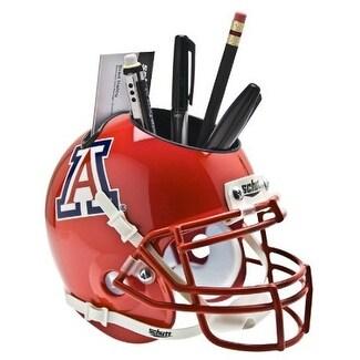 8568acf6 Arizona Wildcats Scarlet NCAA Football Schutt Mini Helmet Desk Caddy