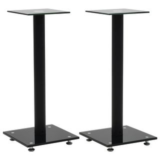 Link to vidaXL Speaker Stands 2 pcs Tempered Glass 1 Pillar Design Similar Items in Speakers