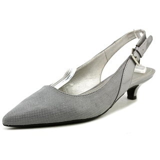 Anne Klein 7Ece Women Pointed Toe Canvas Slingback Heel