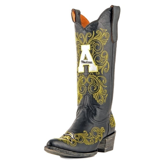 Gameday Boots Womens College Team Appalachian State Black