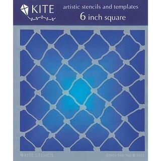 "Judikins Kite Stencil 6"" Square-Fish Net"