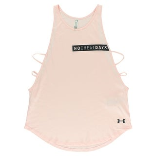 Under Armour Womens No Cheat Days Strappy Tank Top Light Pink