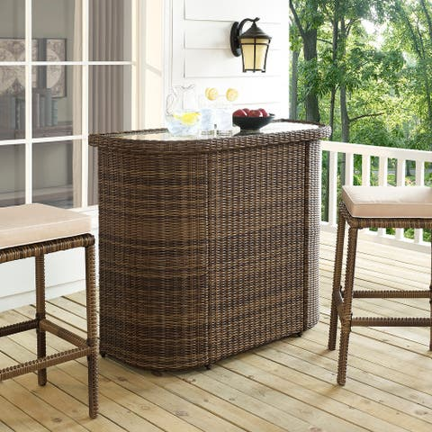 "Bradenton Outdoor Wicker Bar - 50.88 ""W x 20.88 ""D x 41.5 ""H"