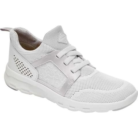 Rockport Women's Let's Walk Knit Sneaker White Knit
