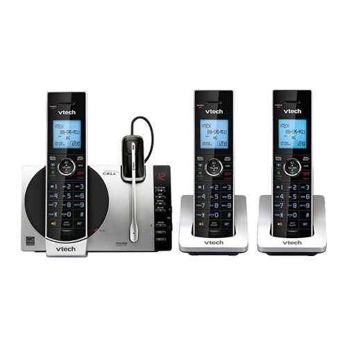 VTech DS6771-3 and DS6072 Phone w/ 3 Cordless Handsets