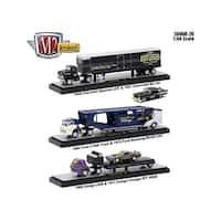 Auto Haulers Release 26, 3 Trucks Set 1/64 Diecast Models by M2 Machines