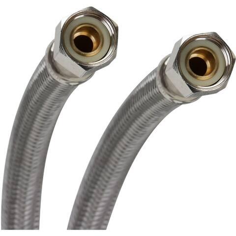 """Fluidmaster PRO6F20 20"""" Faucet Connection Hose, 3/8"""" Female Compr"""
