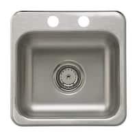 "Sterling B155B-2 15"" Single Basin Drop In Stainless Steel Bar Sink with SilentShield®"