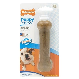 "Nylabone Puppybone Regular Chew Toy Brown 4.5"" x 1.5"" x 1.5"""
