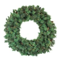 Pre-Lit Royal Oregon Pine Artificial Christmas Wreath, 48-Inch Clear Lights - Green