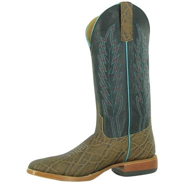 Horse Power Western Boots Mens Tough Elephant Terra Black Buck