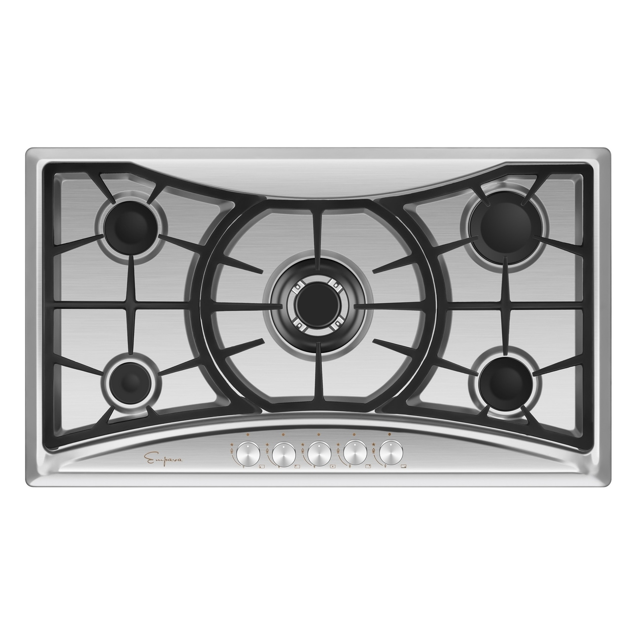 Gas Cooktop Stainless Steel