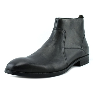 Kenneth Cole Reaction Single Mind Men  Round Toe Leather Black Combat Boot