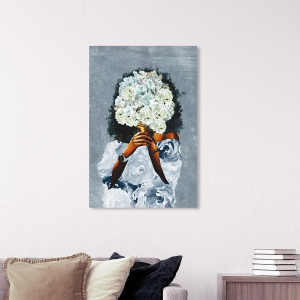 Wynwood Studio 'Garden in France Dusty' Fashion and Glam Wall Art Canvas Print Outfits - Blue, Brown. Opens flyout.