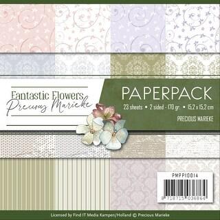 "Find It Precious Marieke Paper Pack 6""X6"" 24/Pkg-Fantastic Flowers, Double-Sided Designs"