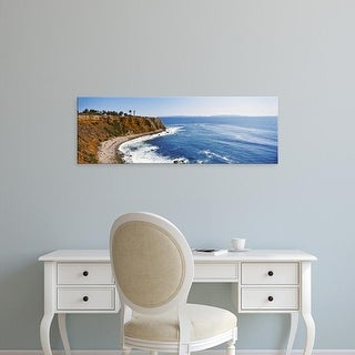 Easy Art Prints Panoramic Image 'Lighthouse at a coast, Point Vicente Lighthouse, Palos Verdes, California' Canvas Art