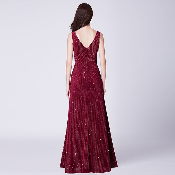 UK Ever-Pretty Plus Size V Neck Long Evening Dresses Cocktail Party Gowns 07394