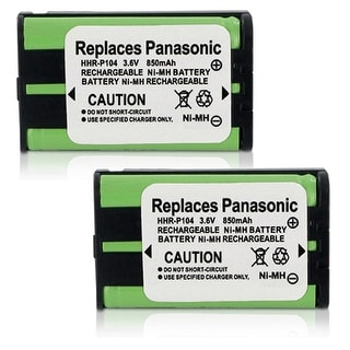 High Quality Generic Battery For Panasonic HHR-P104 Cordless Phone Model (2 Pack)