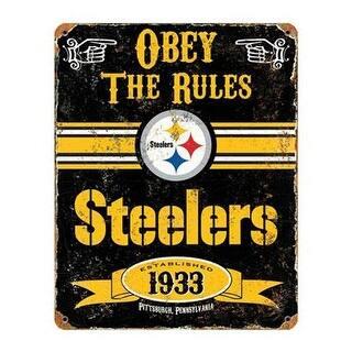 Party Animal Nfl Embossed Metal Vintage Pittsburgh Steelers Sign|https://ak1.ostkcdn.com/images/products/is/images/direct/27d33d86cc434c92932eb4d9bd89d6f536d1d1e2/Party-Animal-Nfl-Embossed-Metal-Vintage-Pittsburgh-Steelers-Sign.jpg?impolicy=medium