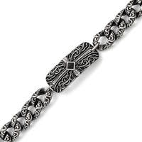Chisel Stainless Steel Antiqued 9in Bracelet