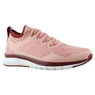 c18f45219b99df Reebok Womens Print Smooth 2.0 ChalkPink UrbanMaroon White Running Shoes