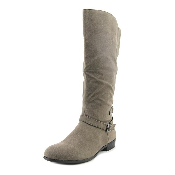 Style & Co Faee Wide Calf Women Round Toe Synthetic Gray Knee High Boot
