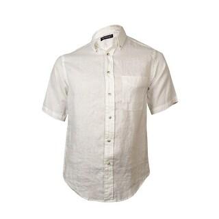 Roundtree & Yorke Men's Classic Woven Linen Shirt