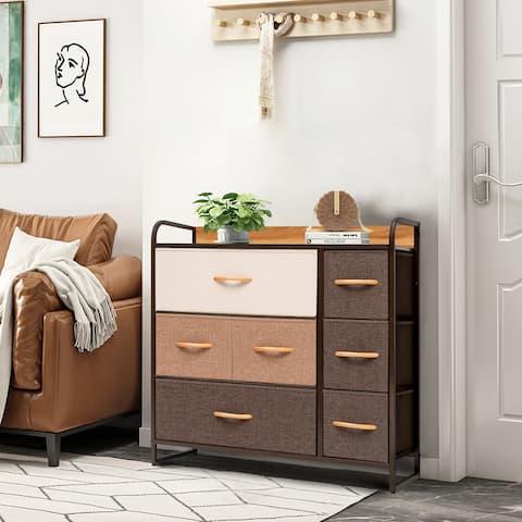 Crestlive Products 7 Drawers Wide Dresser Storage Tower Organizer Unit