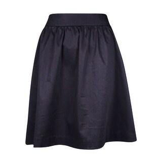 INC International Concepts Women's A-Line Skirt - Deep Black