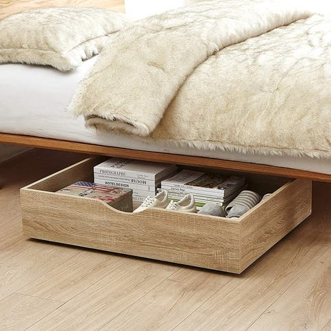 The Storage MAX - Underbed Wooden Organizer with Wheels
